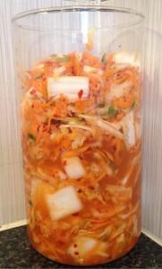 Home-made kimchi